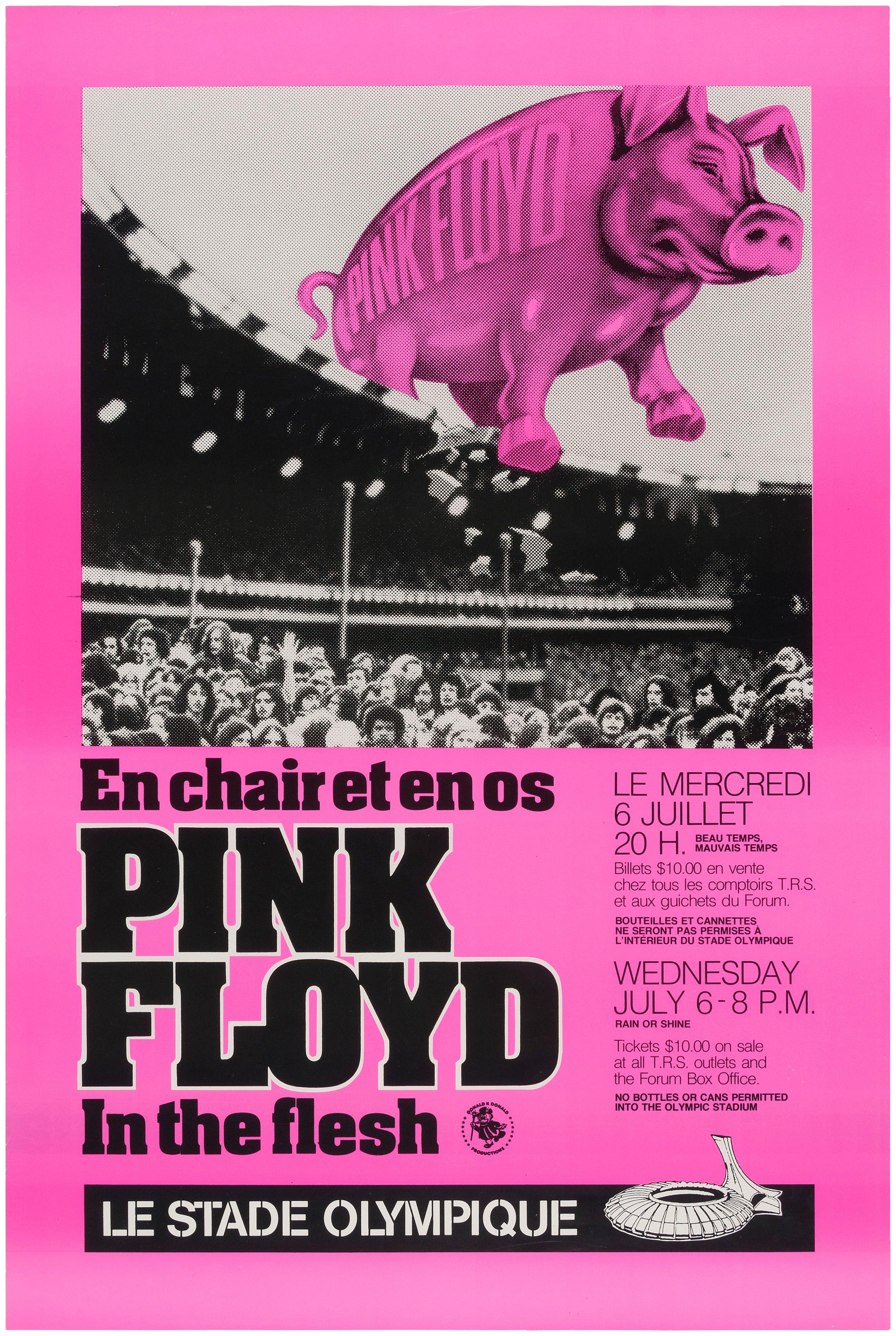 A4 poster pink rain