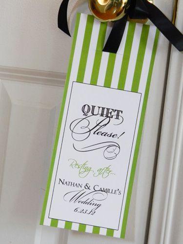 fun wedding or shower gift door hangers for weddings