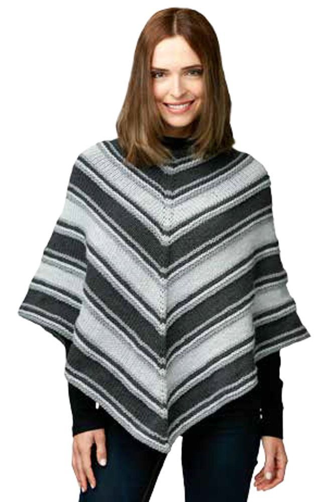 Fade to Gray Knit Poncho in Caron One Pound - Downloadable PDF ...
