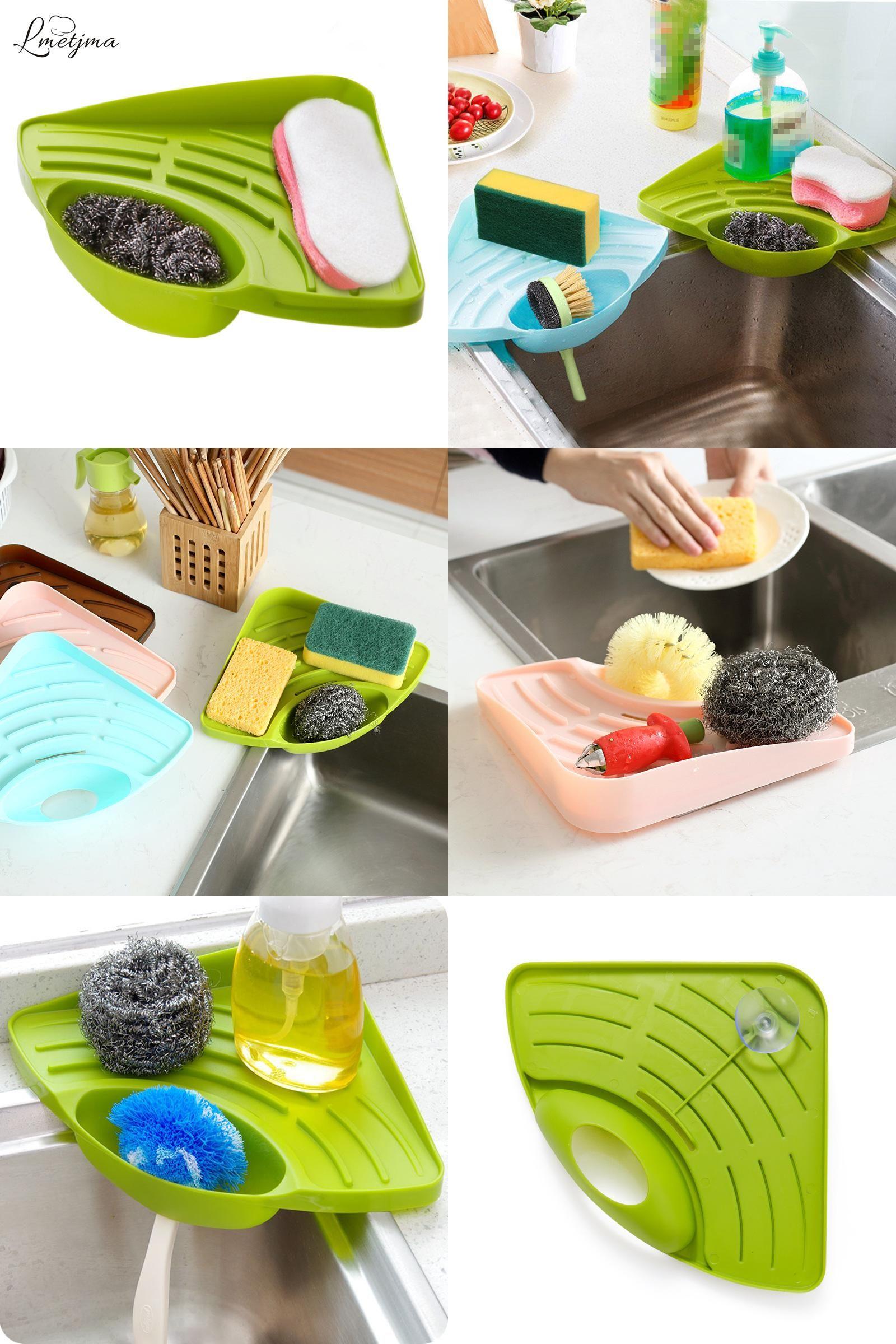 Visit To Buy Lmetjma Kitchen Sink Corner Storage Rack Sponge Holder Cleaning Brush Holder Bathroom Soap Cleaning B Sponge Holder Corner Storage Bathroom Soap