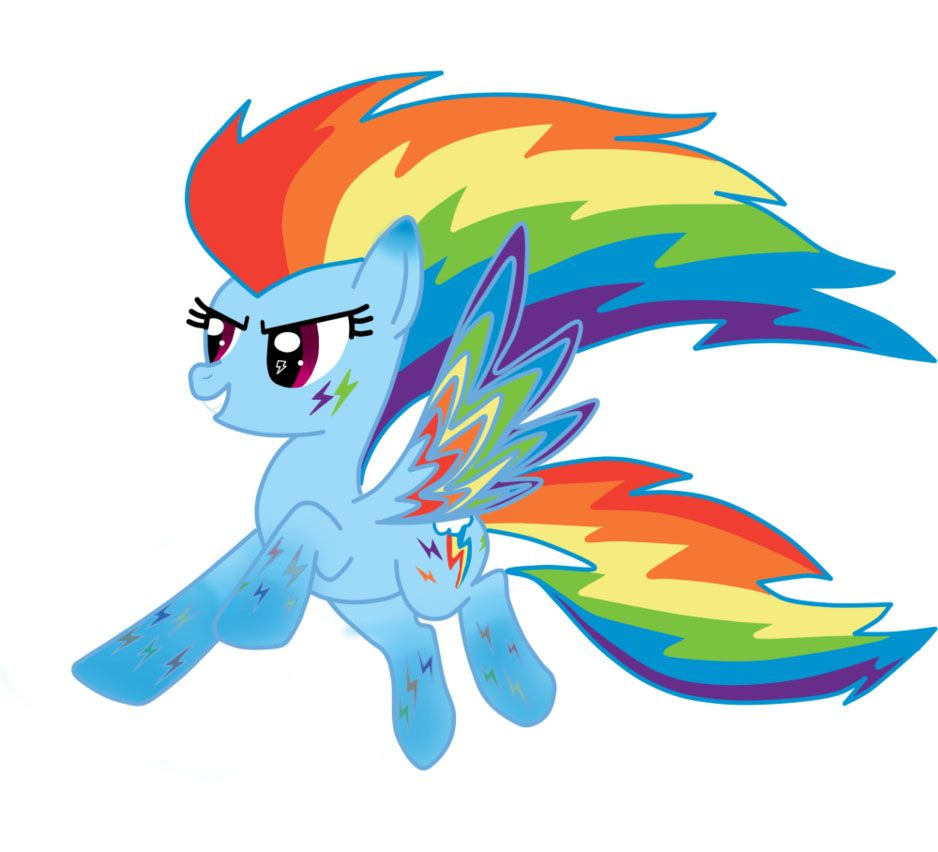 Rainbow Power Rainbow Dash With Images My Little Pony