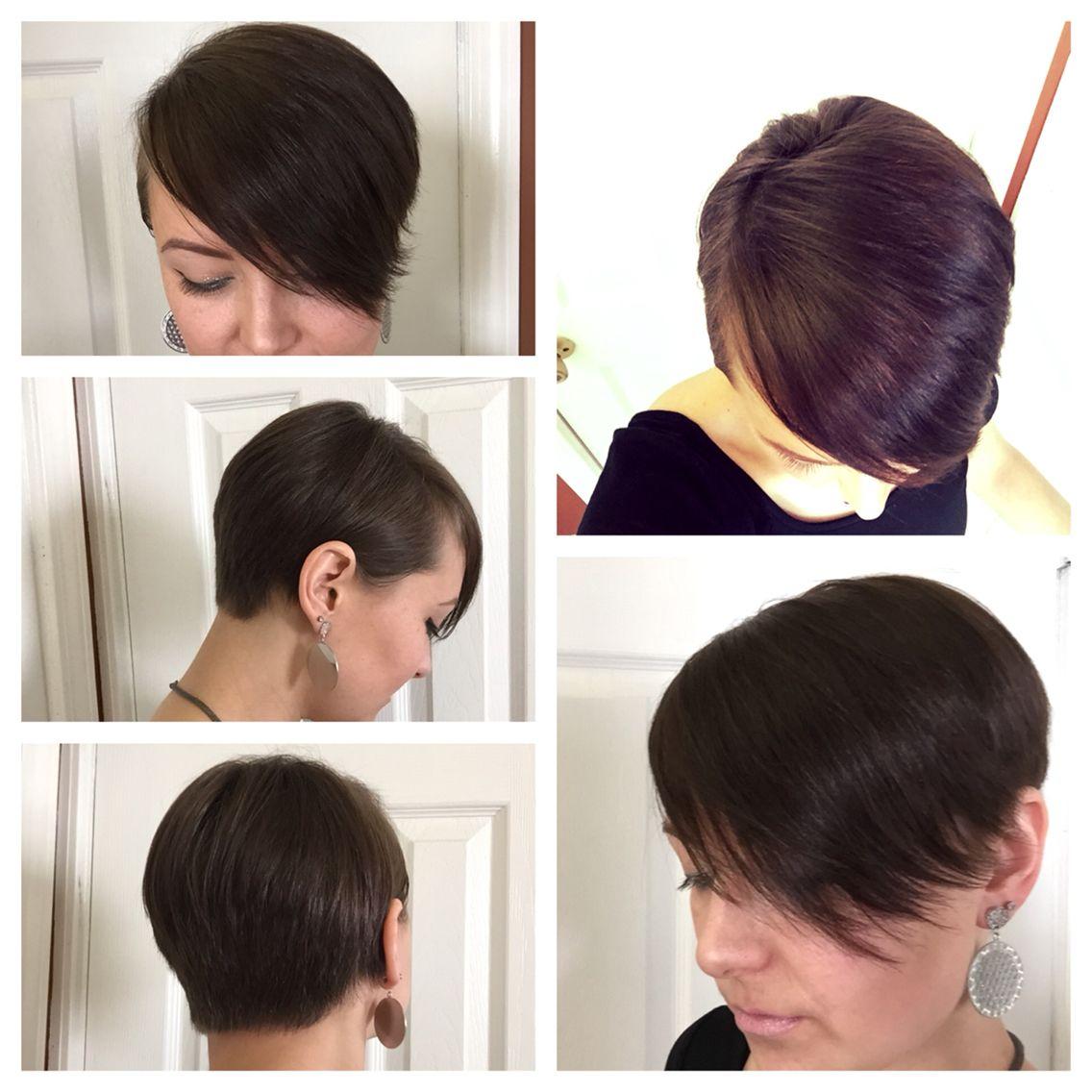 Short Hairstyle Pixie Haircut Asymmetrical Hair Cut For A Round