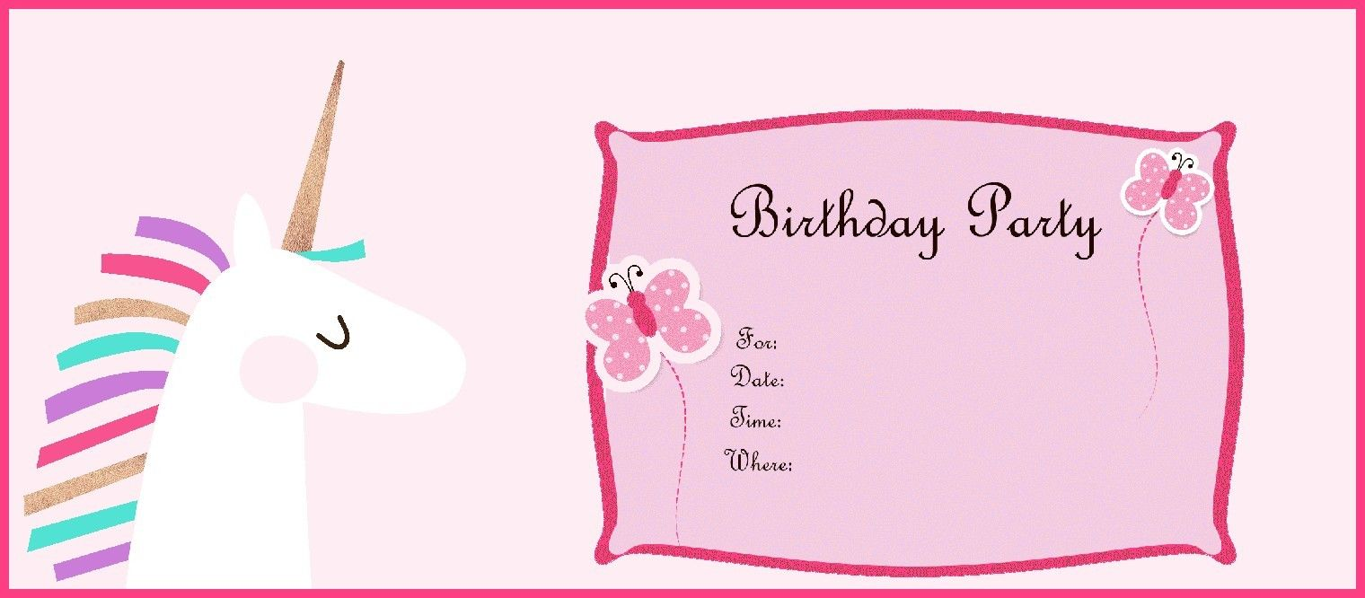 Free Printable Unicorn Birthday Party Invitation Print Me