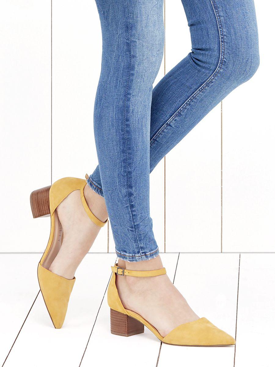 e181985162c Suede block heel pumps