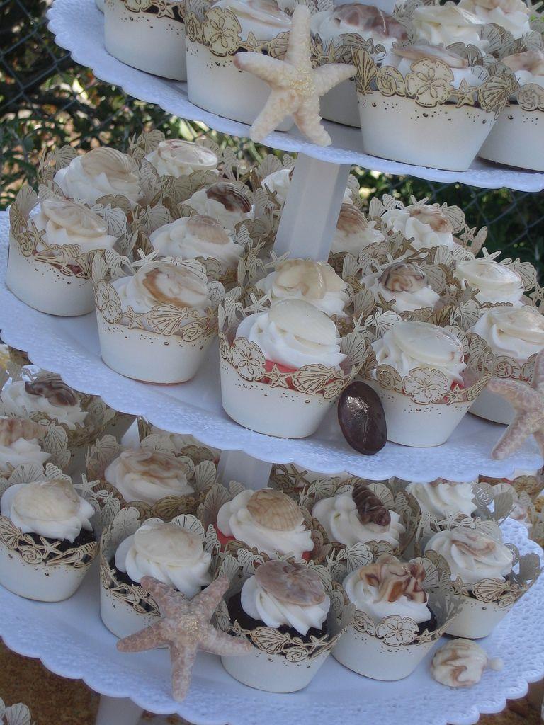 Seashell Wedding Cupcakes Wedding Wedding And Wedding Cake