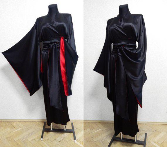 742d110c000e4 Double-sided Silk kimono robe, kimono robe, jacket, cloak, Silk jacket,  Floor Length, Wedding jacket