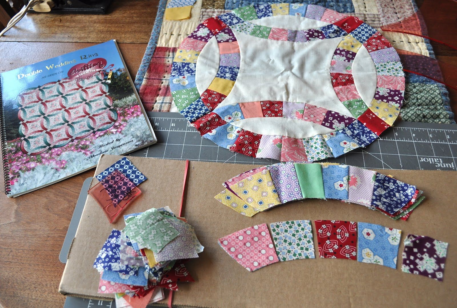 We Have Decided To Meet Once A Month Piece Our Double Wedding Ring Quilts Today I Wen