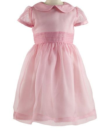 Loving this Pink Pin Tuck Silk Dress - Toddler & Girls on #zulily! #zulilyfinds