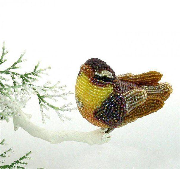 Бисерные птички  #Abbigli #хендмейд #подарки #рукоделие #хобби #креатив #handmade #идея #вдохновение #своимируками