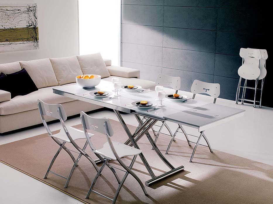 Tavolo Trasformabile ~ Mdf italia #tavolo tense e# sedia flow nero living tavoli e