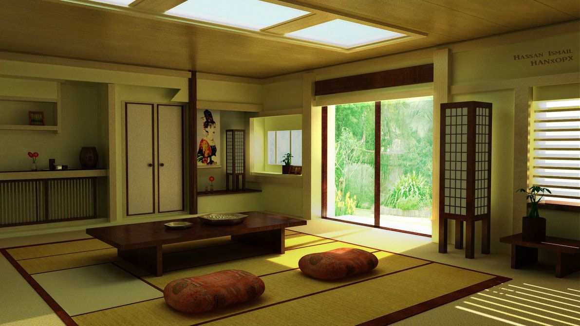 Amazing And Simple Japanese Home Interior Design Placement