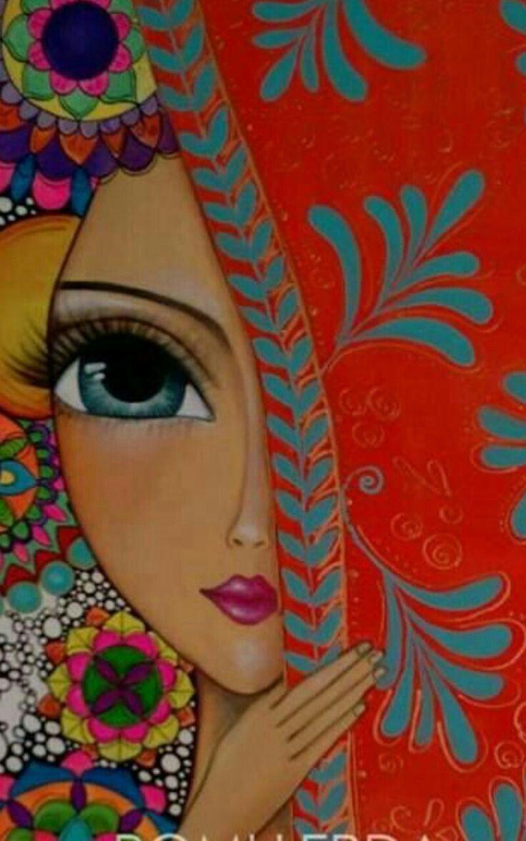 CrochetingArts.com | Cuadro inspirado en la obra de Romina Lerda - CrochetingArt...