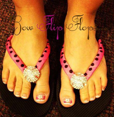 Hot Pink Baseball Bling Flip Flops Choose Your Flip Flop Color Bling Flip Flops Baseball Bling Hot Pink