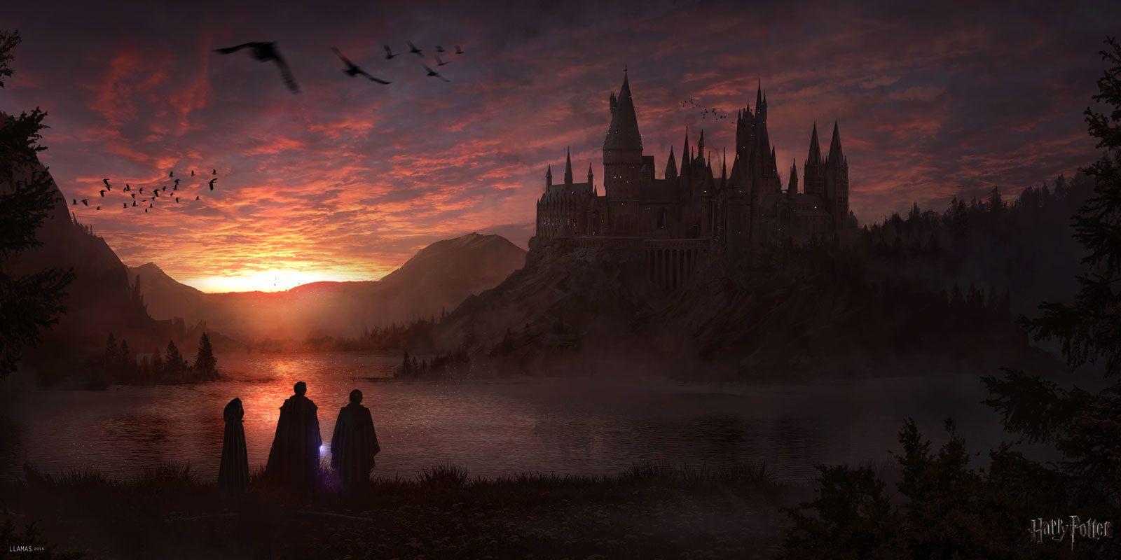 Hogwarts Florent Llamas Harry Potter Wallpaper Backgrounds Harry Potter Wallpaper Harry Potter Background
