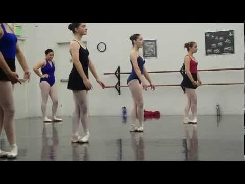 Ballet Posse Center Pointe Work, Milana Age 15 - YouTube