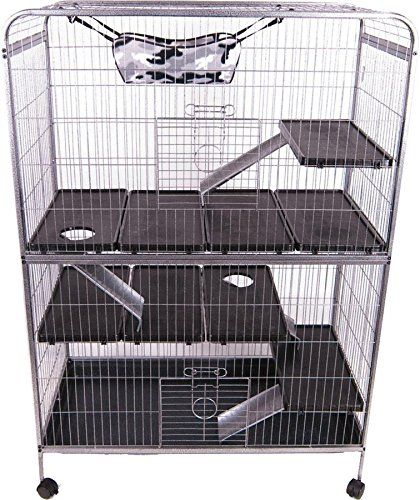 Ware 089496 Lrs Deluxe Ferret Home Grey 42x20 75x59 5in