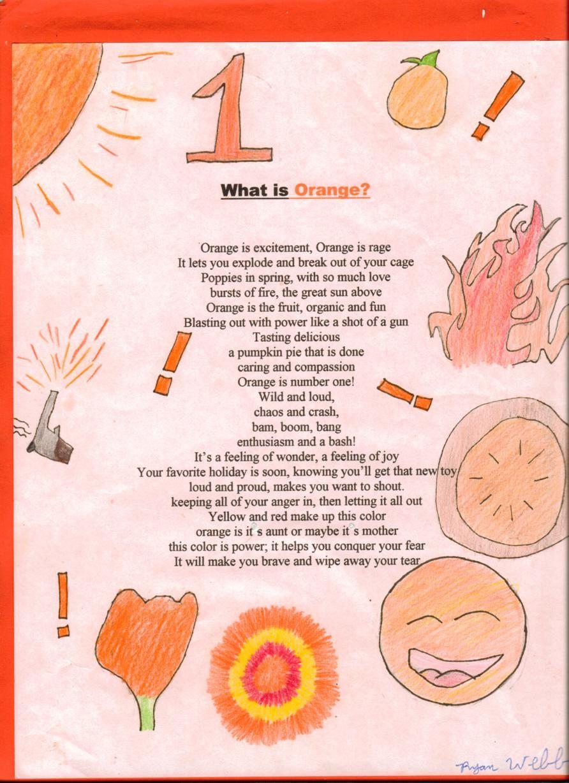 color orange poem - Google Search | ART...Cross Curriculum ...