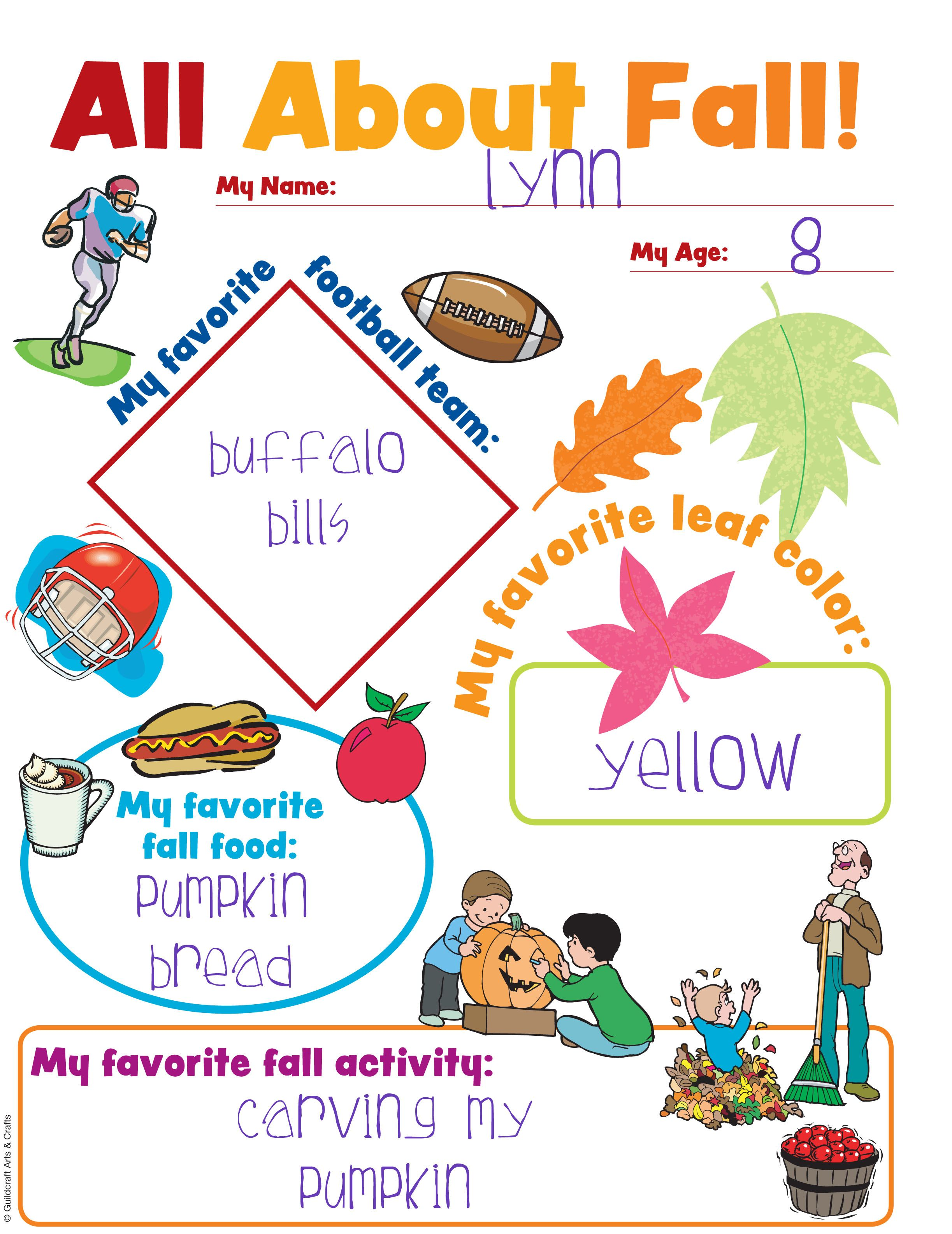All About Fall Chart With Images