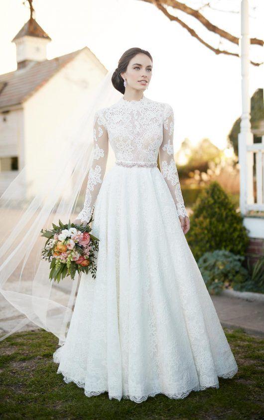 Romantisches zweiteiliges Brautkleid | Martina Liana