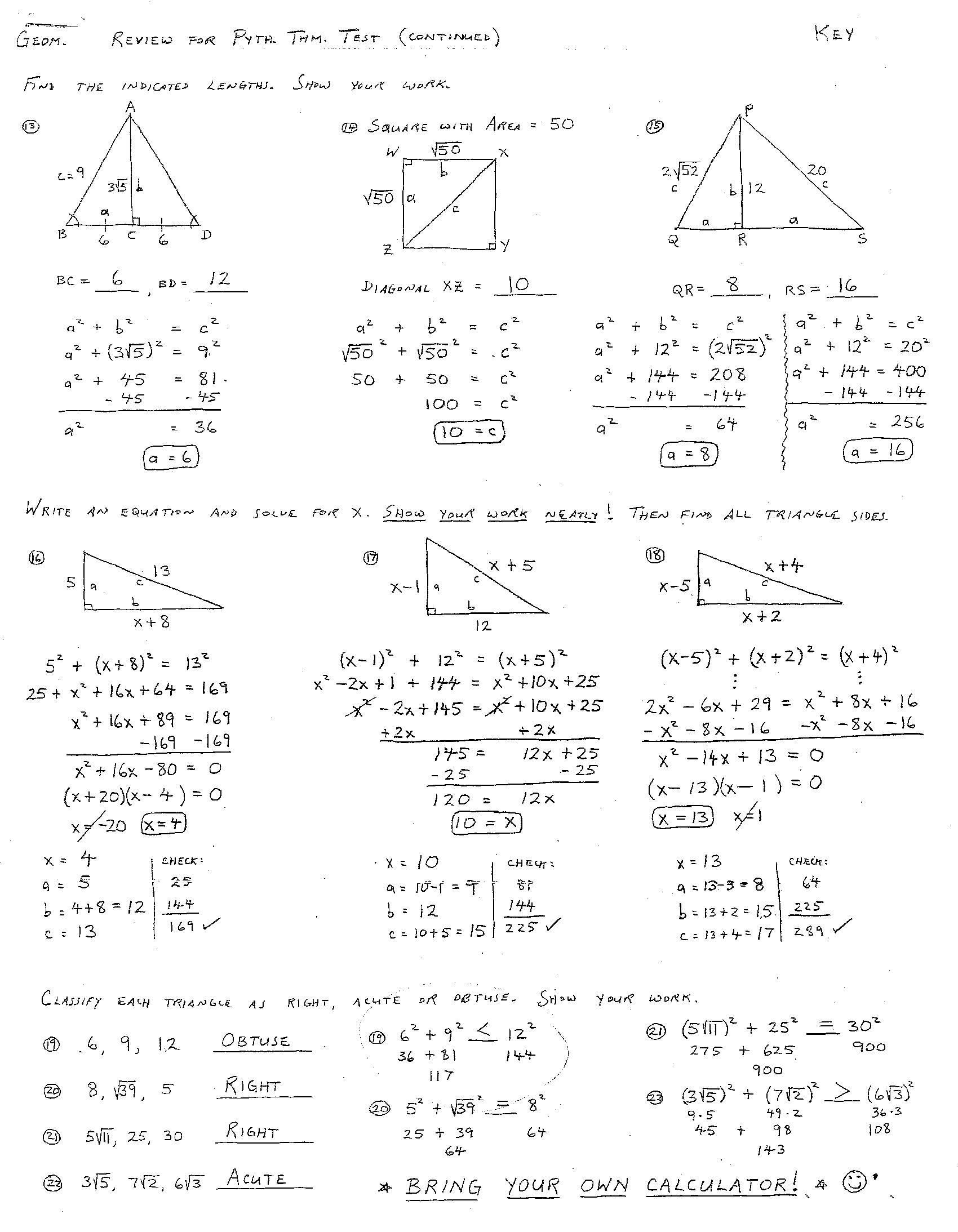 6 Best Images Of Congruent Triangles Worksheet With Answer