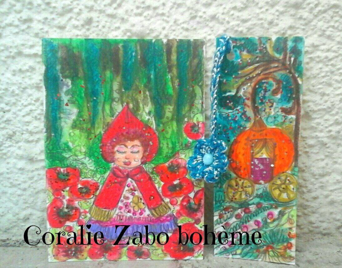 Carte Originale Peinture Aquarelle Marque Page Peinture Aquarelle