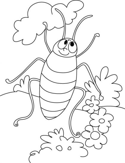 Cockroach dancing style coloring pages   Download Free Cockroach ...