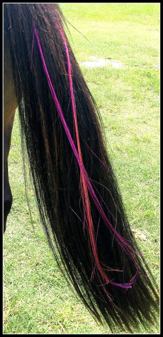 Sparkling Glitter Tinsel Tail Extension For Horses By Thefoxyhorse