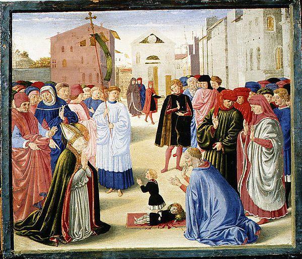 Benozzo Gozzoli (Benozzo di Lese di Sandro) | Saint Zenobius Resuscitating a Dead Child | The Met