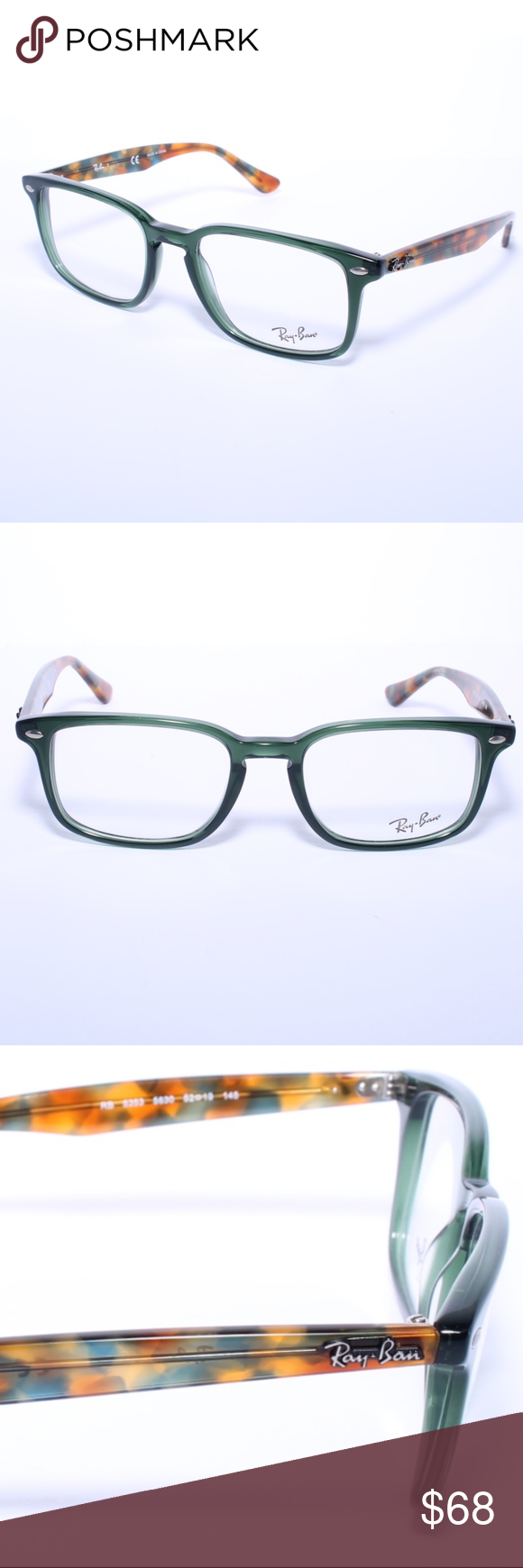 4a8a39e73f Ray Ban RB 5353 5630 Green-Havana Eyeglasses Ray Ban RB 5353 5630  Green-Havana Eyeglasses Frames 52 19 Brand new 100% authentic Comes with  Generic Case