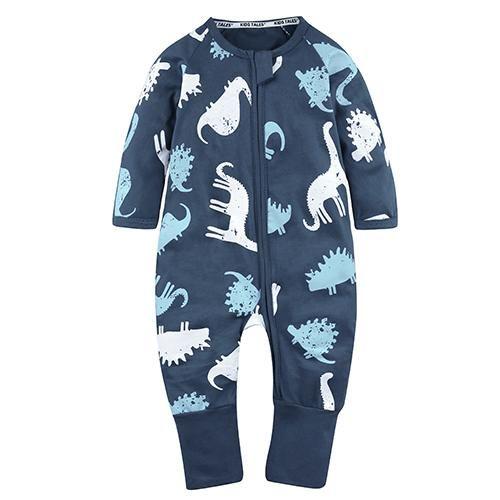 Newborn Toddler Overalls Jumpsuit Baby Boys Long Sleeve Button Up Cartoon Bat Romper One Piece Sleepwear