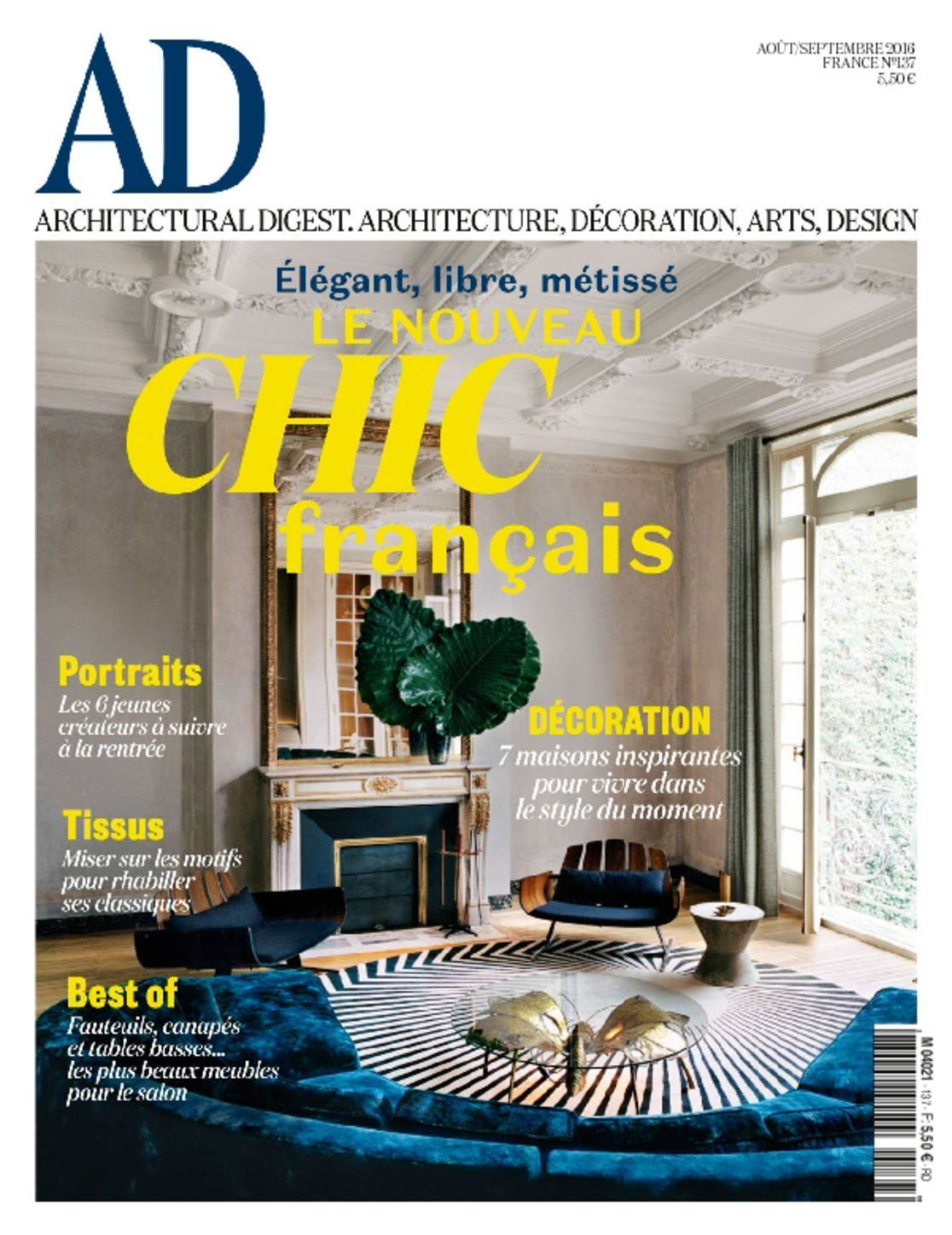 Architectural digest france august september 2016 - Home and architectural trends magazine ...