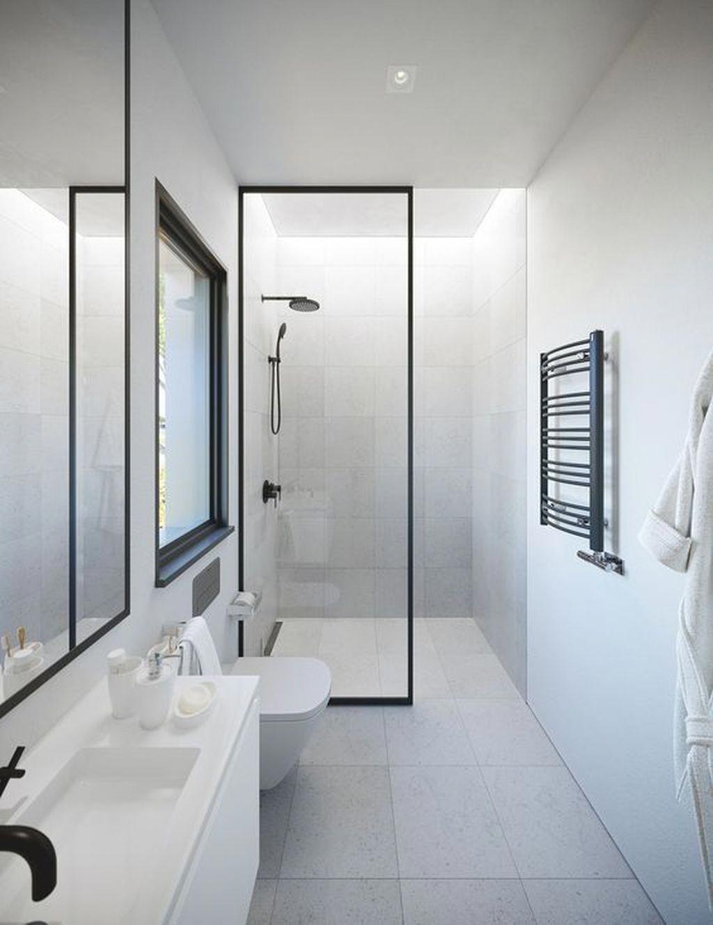 Modernbathroomsmall In 2020 Minimalistische Badgestaltung Badezimmer Innenausstattung Bad Styling