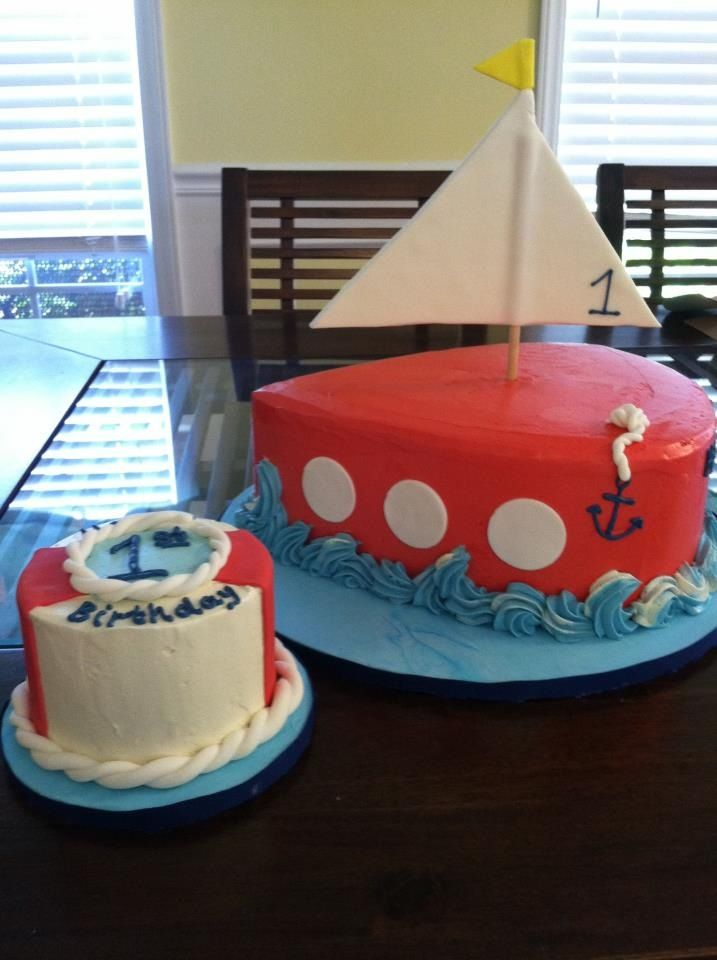 Nautical 1st Birthday Cake And Smash Cakelins Cakes Cookies Charlotte NC