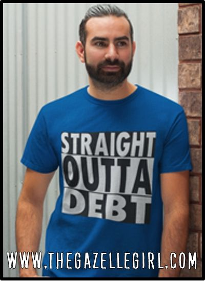 04b774586 Dave Ramsey inspired T-shirt. Straight Outta Debt, Perfect for anyone  working to