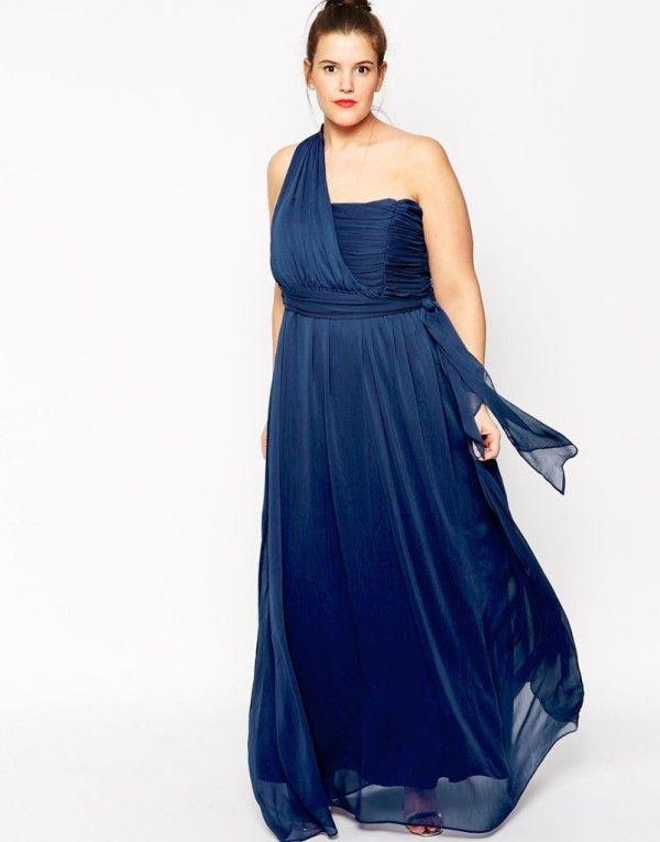 Vestidos de noche azul electrico para gorditas