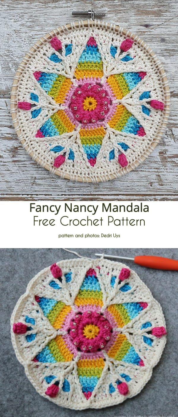 Happy Mandala Free Crochet Patterns – mandalahäkelei