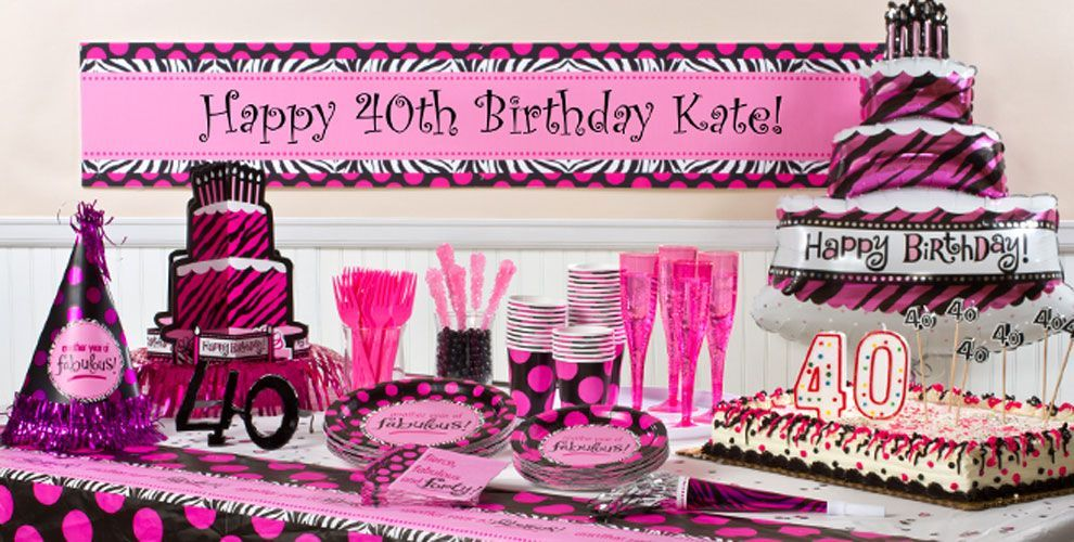 Another Year of Fabulous 40 Party Supplies 40th birthday ideas