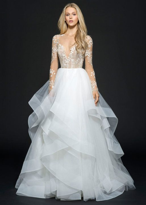 Style 6654 Lorelei Ivory Tulle Long Sleeve Bridal Ball Gown