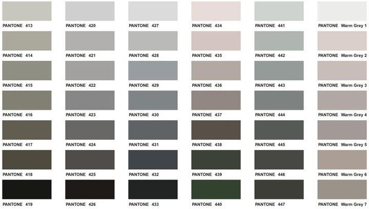 Shades Of Gray At With Images Pantone Color Chart Grey Colour