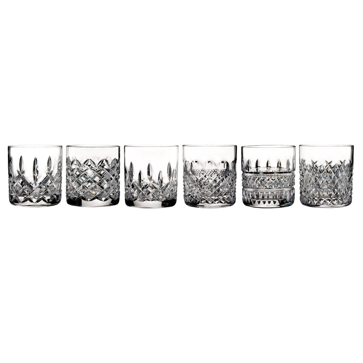 Waterford Crystal Connoisseur Set Of 6 Heritage Straight Sided Tumbler Glasses In 2020 Waterford Lismore Waterford Crystal Crystals