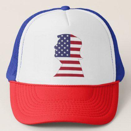 a8063a48e23 PRESIDENT DONALD TRUMP AMERICAN FLAG TRUCKER HAT - white gifts elegant diy  gift ideas