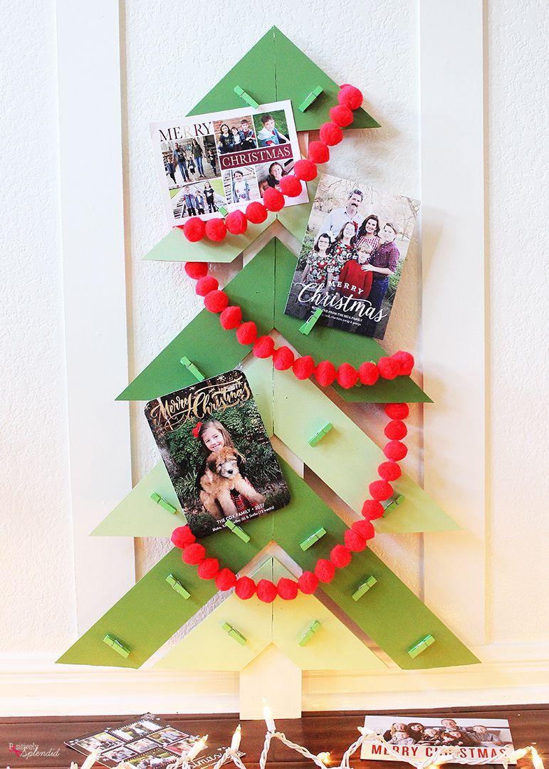 Christmas Tree Diy Christmas Card Holder Diy Christmas Card Display Christmas Card Holder Diy Diy Christmas Cards Christmas Cards To Make