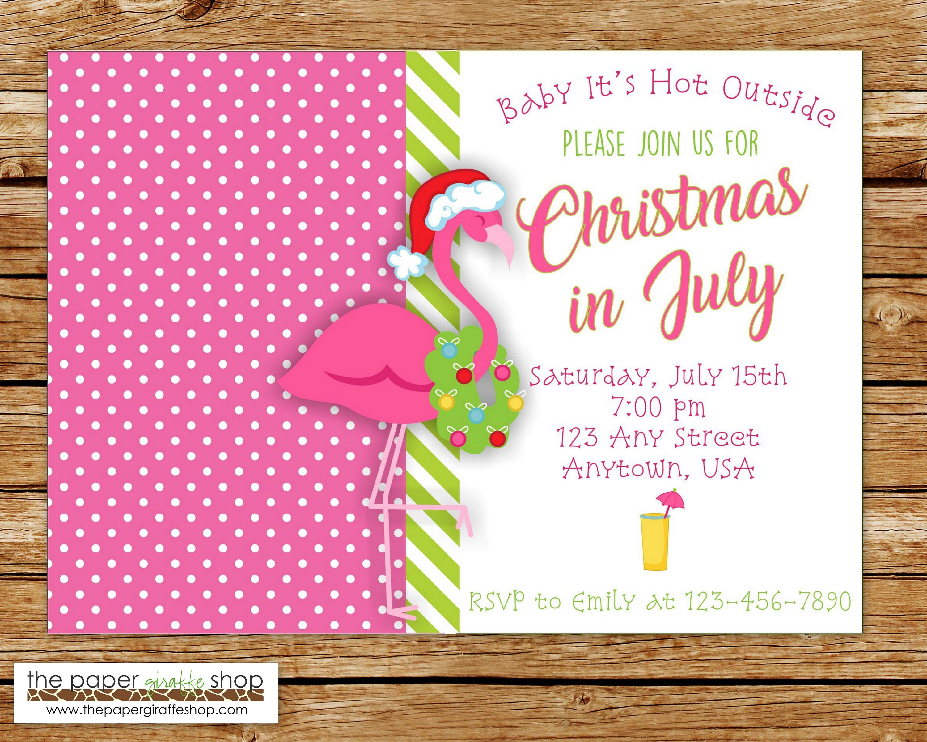 christmas in july invitation christmas party 4th of july