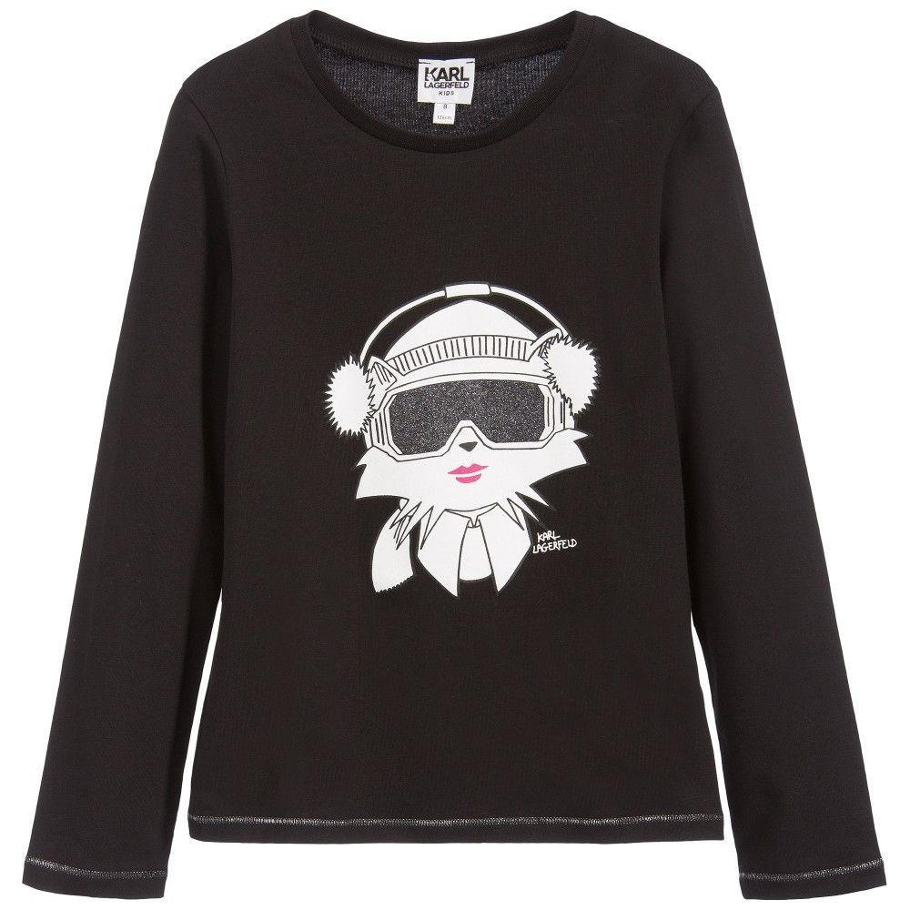 0700c0924 Karl Lagerfeld Girls 'Keep Cool' Choupette Shirt | Products | Karl ...