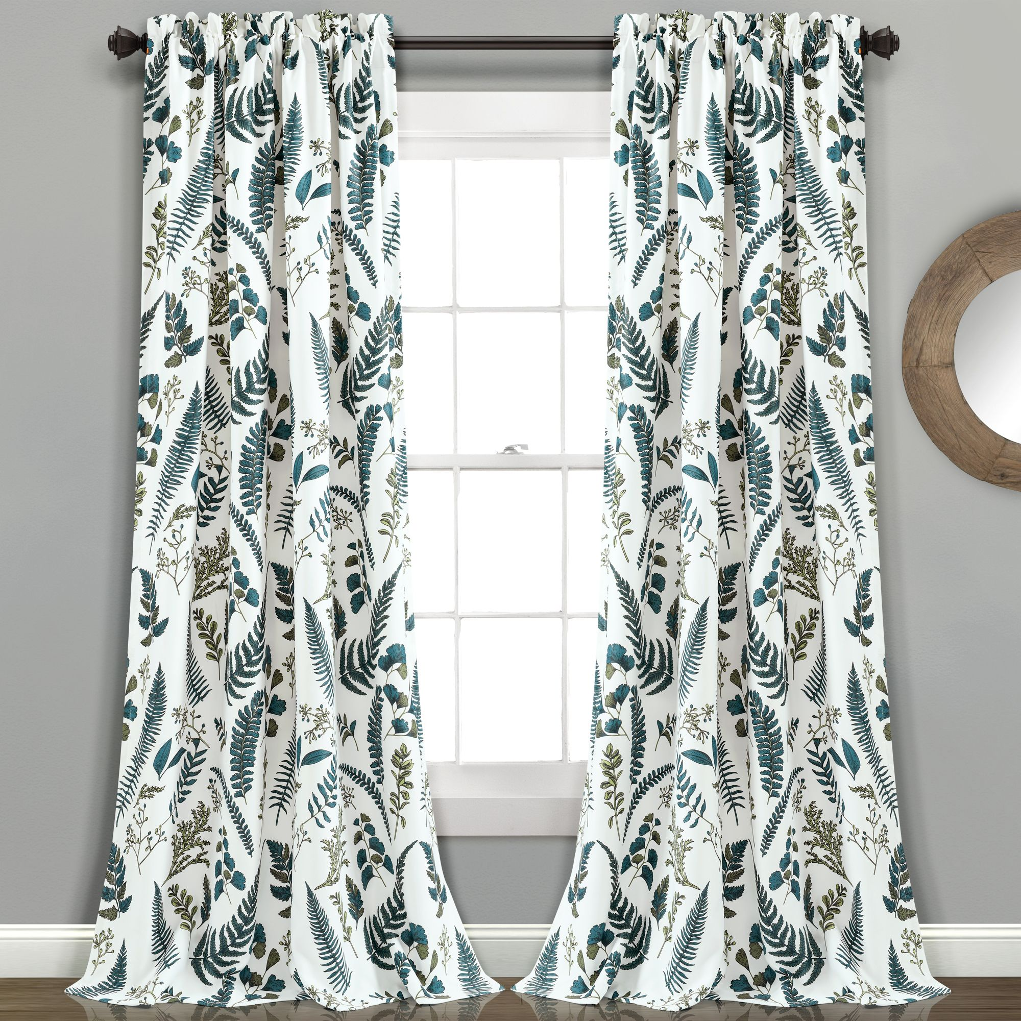 Devonia All Over Room Darkening Window Curtain Panel Set With