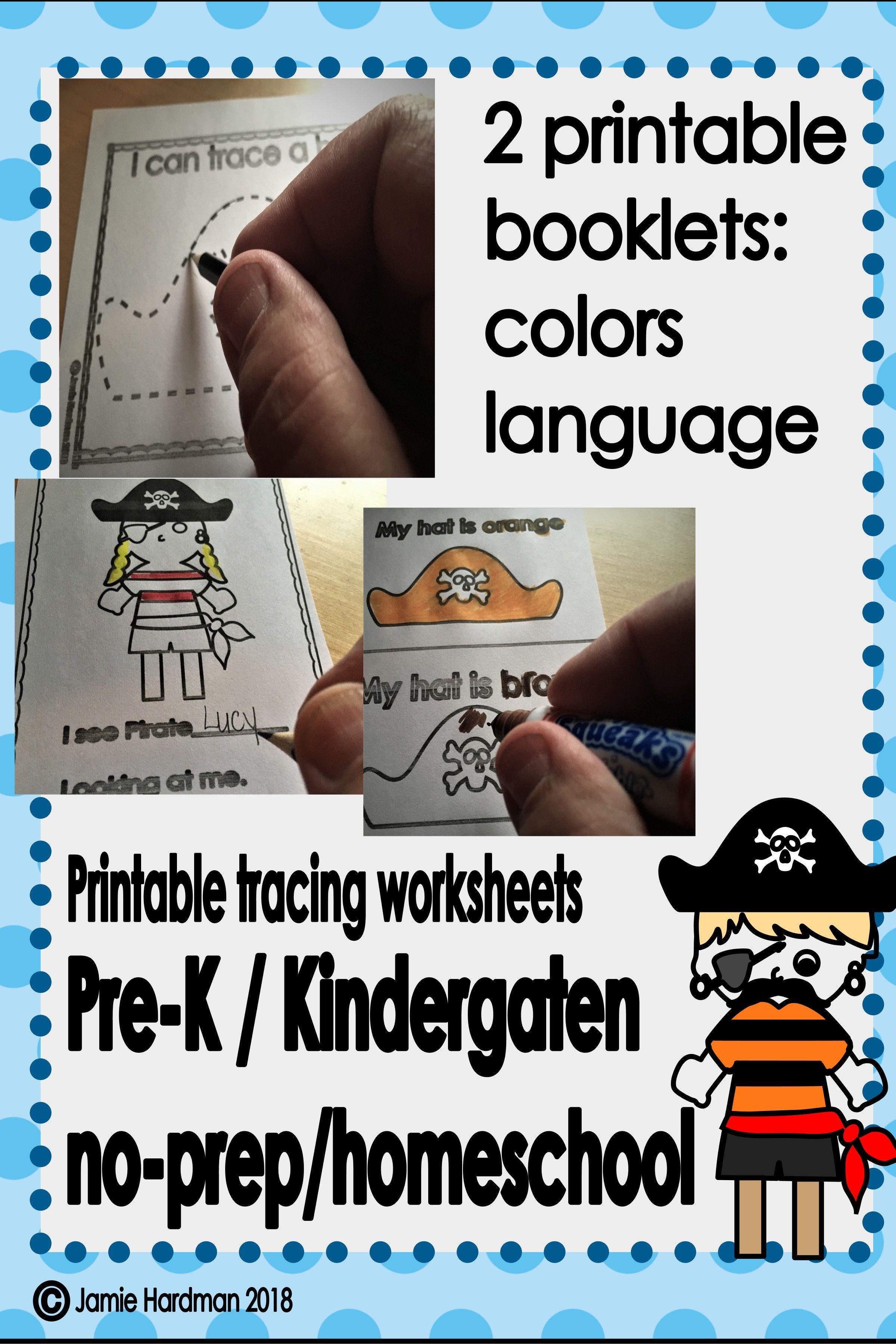 Pirates Kindergarten Printable Booklets