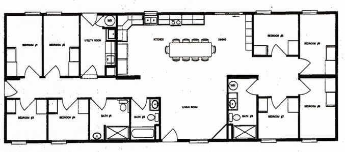 This bunkhouse floor plan is a better fit than most family Bunkhouse floor plans