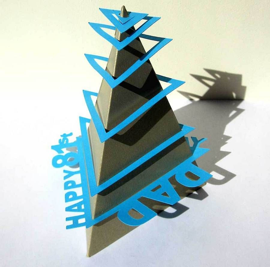 Helter skelter pyramid birthday card card making ideas pinterest