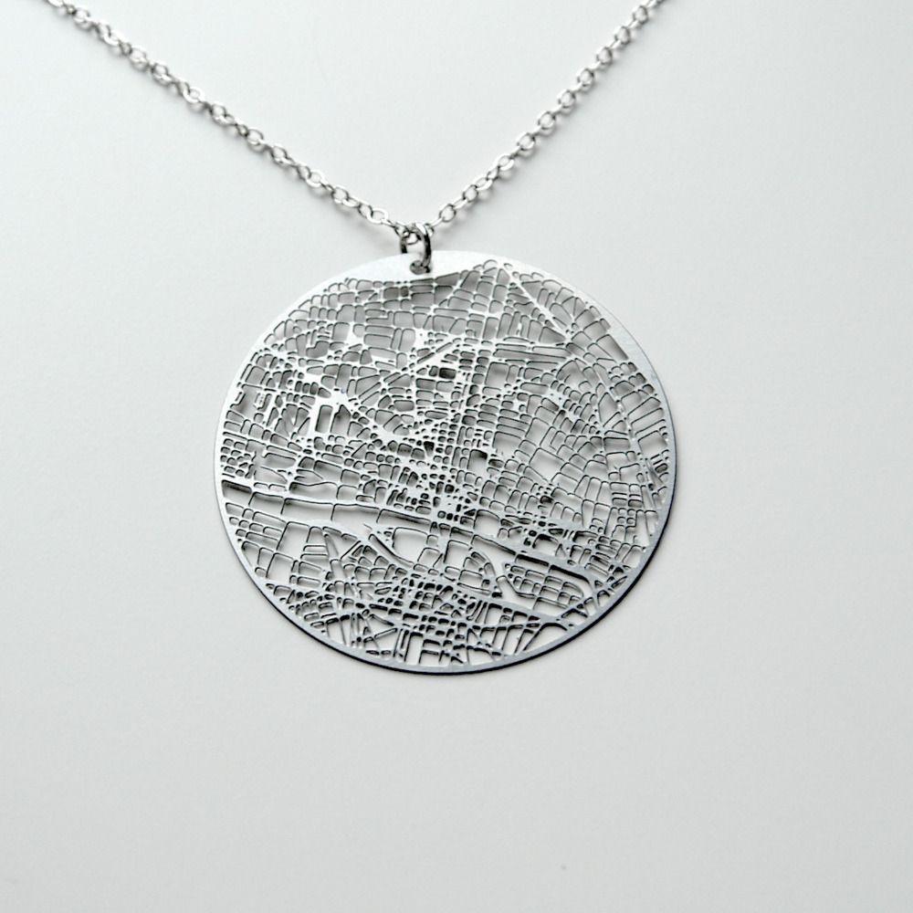 Urban Gridded necklace - Paris.