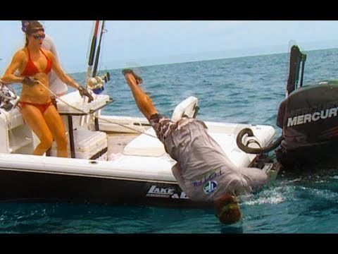 Angler gets Pulled Overboard by Giant Fish! Chew On This ...